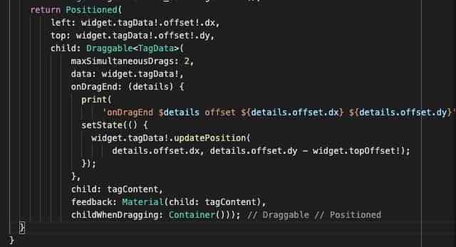 FlutterでDraggable内のTextに下線